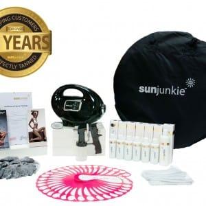 Sunjunkie spray tan machines   spray tan kits   package   professional