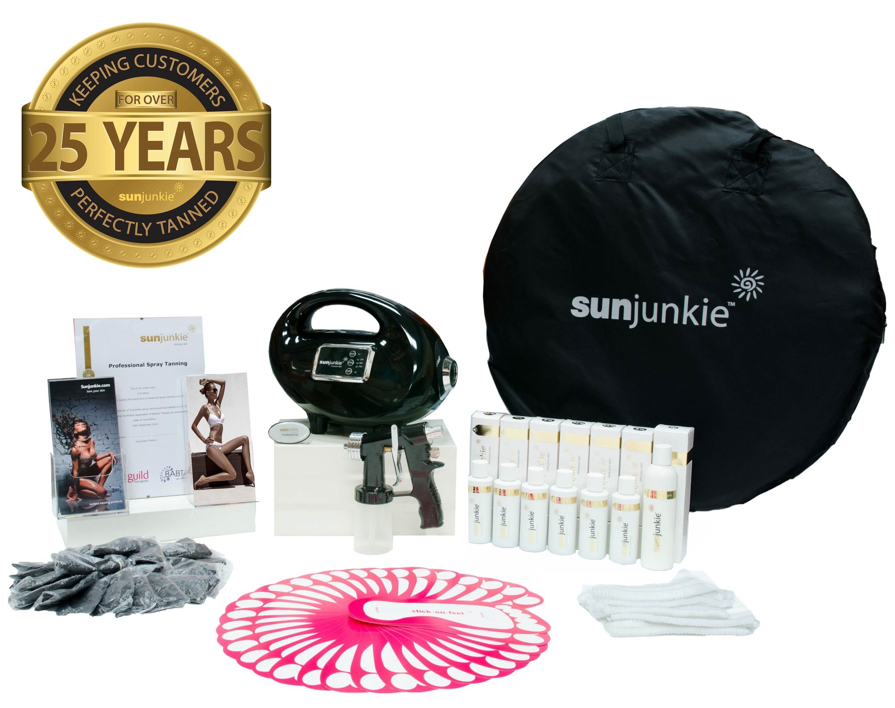 Sunjunkie spray tan machines | spray tan kits | package | professional