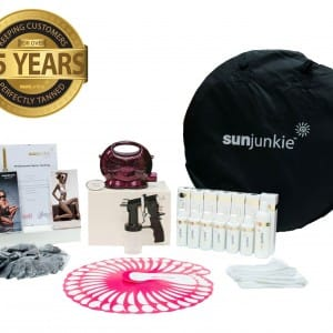 Sunjunkie spray tanning machines   spray tan kit   packages   reviews