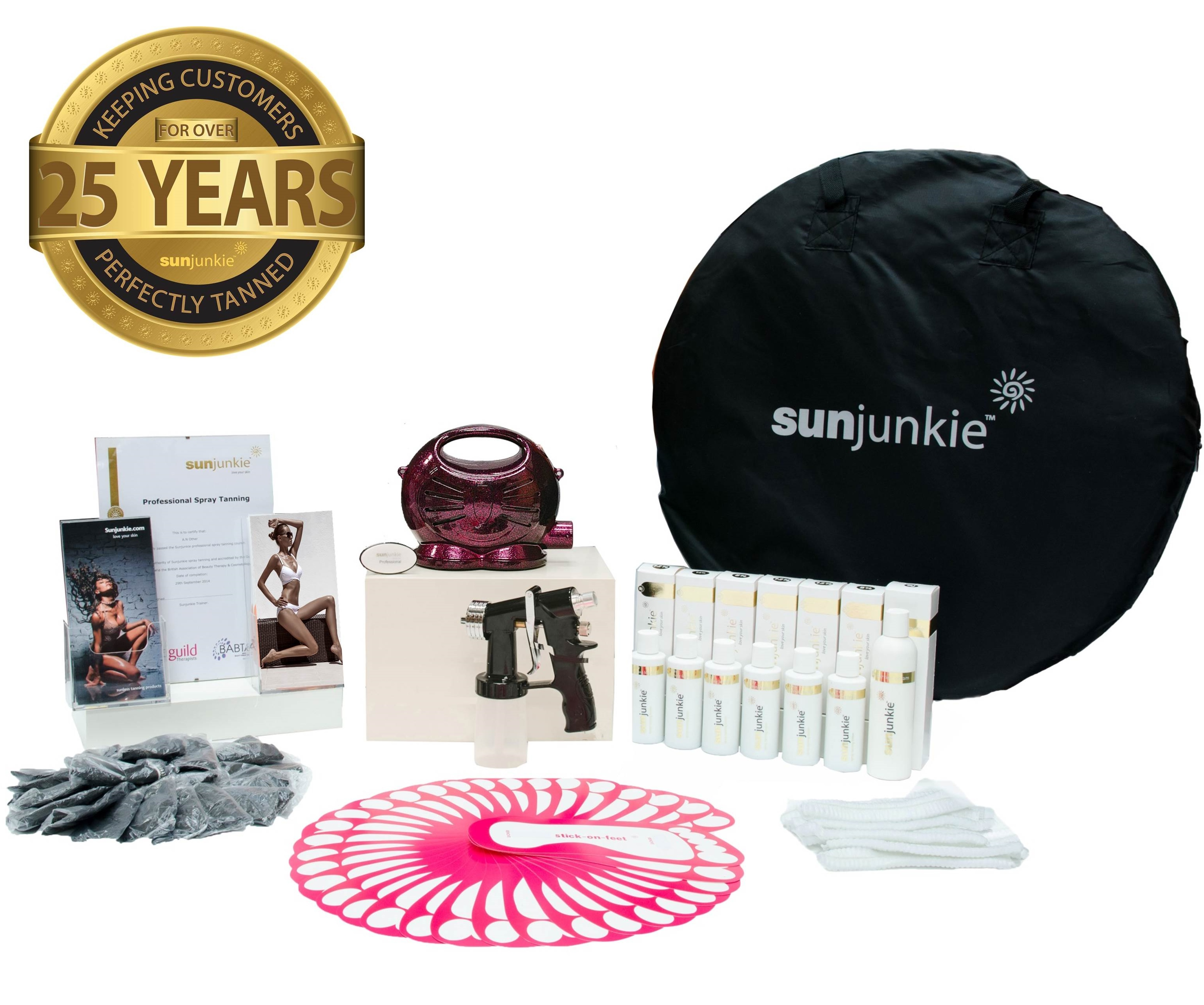 Sunjunkie spray tanning machines | spray tan kit | packages | reviews