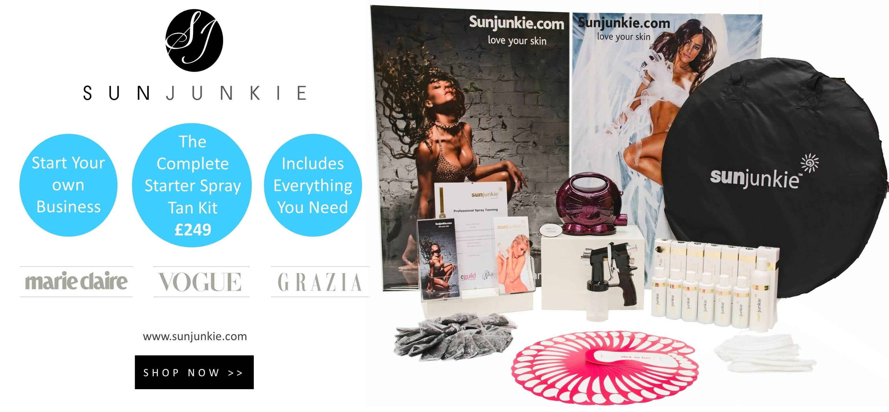 Spray Tan Machines & Spray Tan Kits - Sunjunkie